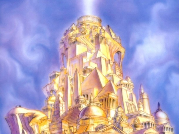 Heavenly golden city (New Jerusalem)